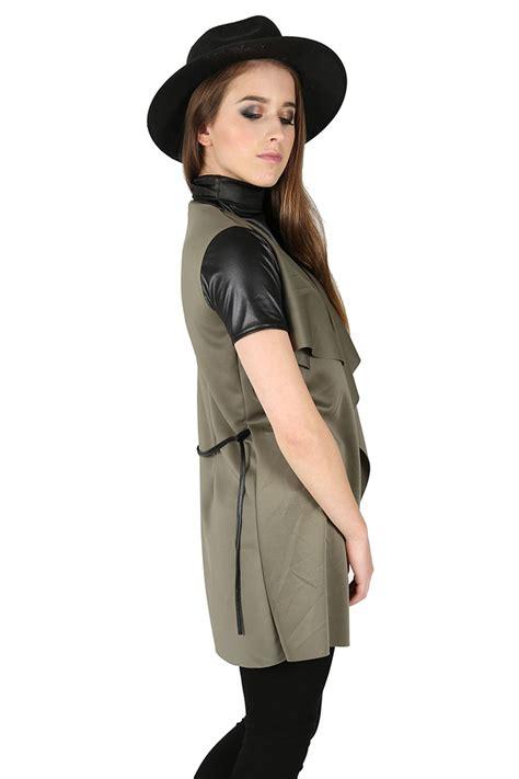 Atasan Cape Coat Clothing Sleeve Cape Coat 1 womens sleeve tie belt waterfall cape coat
