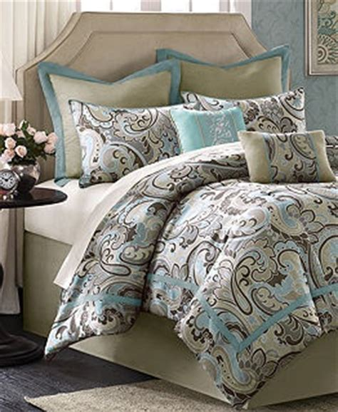 brown and turquoise bedding turquoise and brown bedding bed in a bag at macy s