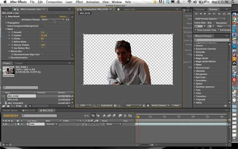 tutorial after effects background how to remove background from video footage without