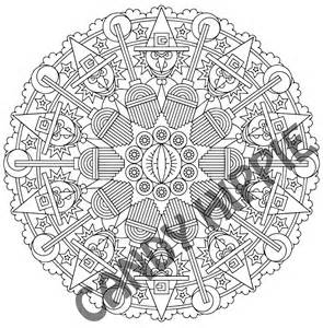 eye of newt halloween mandala candyhippie coloring pages