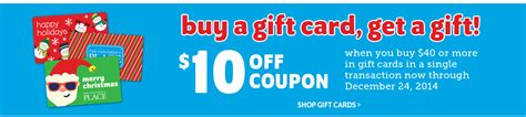 Children S Place Gift Card Discount - the children s place buy a 40 gift card get a 10 coupon