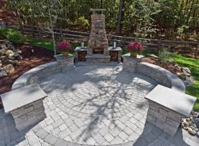 patio ideas with concrete pavers landscaping gardening