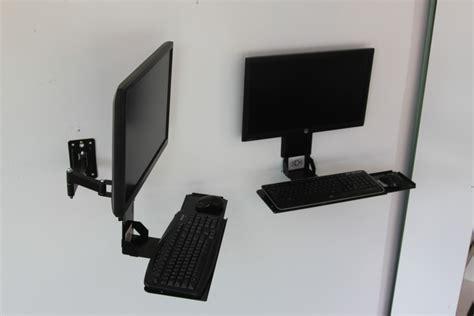 keyboard holder for vesa keyboard tray w integrated wall mount