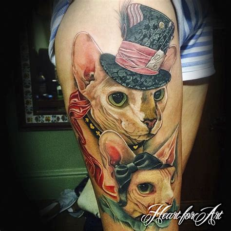 Cat Tattoo Artist Uk | colour tattoos cat tattoo portfolio heart for art