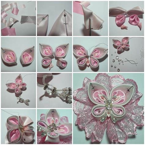 ribbon diy projects diy beautiful satin ribbon butterfly satin butterfly and popular crafts