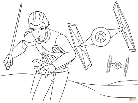 rebels ezra coloring pages wars rebel kanan kleurplaat gratis kleurplaten printen