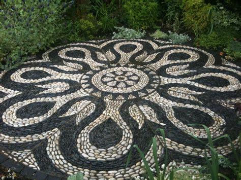 mosaic pattern patio mandala patio project mediterranean patio vancouver