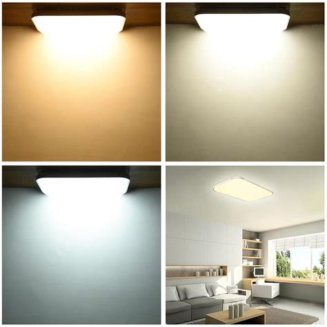 Flush Mount Bedroom Lighting Led Ceiling Light Flush Mount Fixture L Bedroom Kitchen Lighting 24w 36w 48w Ebay