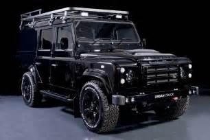 land rover defender 110 cab utility black