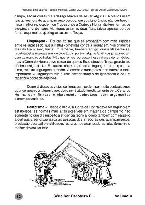 04 - série ser escoteiro é: corte de honra