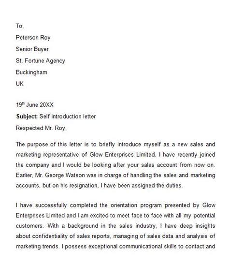 Letter Of Introduction For Business Meeting 40 Letter Of Introduction Templates Exles