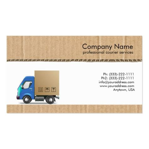 courier business card templates create your own courier business cards