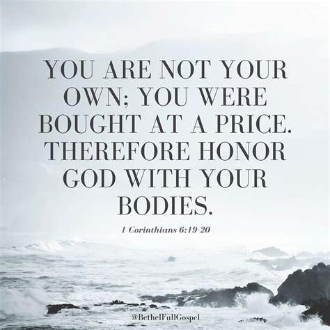1 Corinthians 6 19 20 Bible Verse Honorgod Living