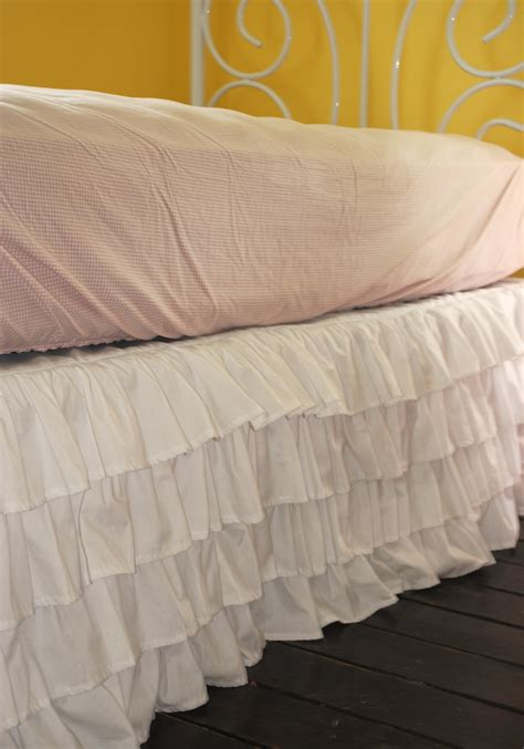 Crib Bed Skirt White Ruffle Crib Skirt