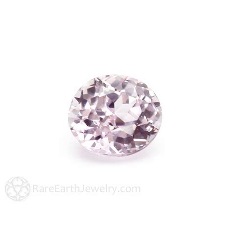 Light Pink Sapphire Gemstone Oval Faceted Loose Stone