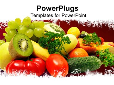 healthy food powerpoint template powerpoint template healthy 12727