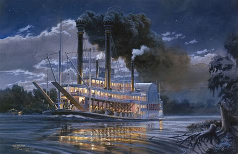 steamboat art quot robert e lee quot tom freeman print famous steamboat on the