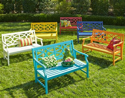 outdoor bench colors pin by pier 1 imports on outdoor furniture by pier 1