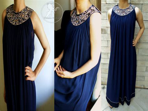 Dress Branded Simply Styled Navy Dress royal blue casual wear frock designer dresses