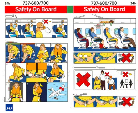 passenger briefing card template air travel in flight safety for deaf