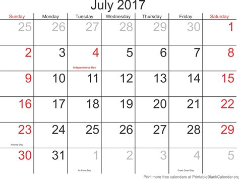 printable calendars july july 2017 printable calendar printable blank calendar org