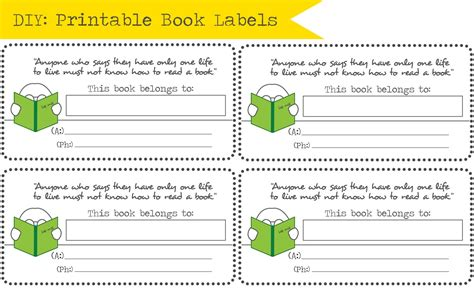book label template free in honor of design diy back to school book labels