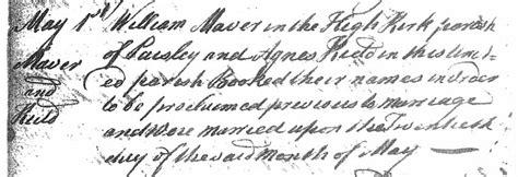 Paisley Scotland Birth Records Cai Maver S Genealogy Maver Records