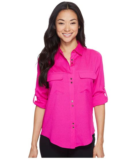 Ivanka Blouse ivanka button blouse in pink lyst