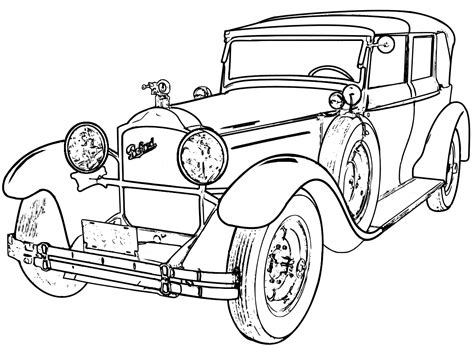 printable coloring pages of old cars classic car coloring pages printable vehicle pictures
