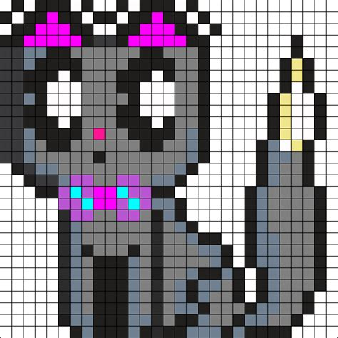 cat perler bead pattern suprised kawaii cat perler bead pattern bead sprites