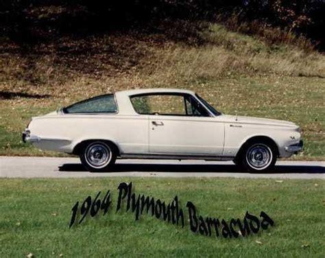 64 plymouth barracuda 64 barracuda 1964 plymouth barracuda specs photos