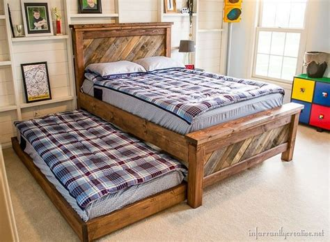 bed made from pallets recycled wood pallet bed ideas pallet wood projects