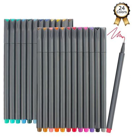 Colored Marker Pen ibayam 24 color tip colored writing drawing markers pens