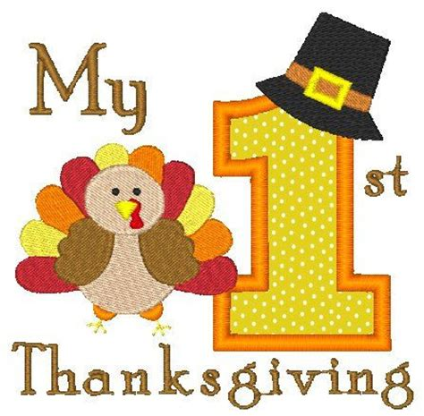 babys thanksgiving thanksgiving machine embroidery design thanksgiving
