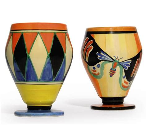 Clarice Cliff Vase Shapes a clarice cliff butterfly vase shape 363 christie s