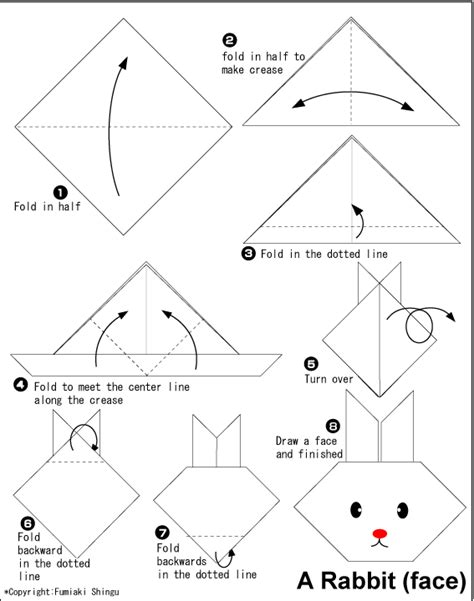 Easy Origami Bunny - origami rabbit easy origami for