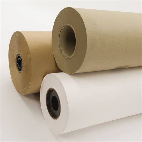 Buy Brown Ribbed Craft Paper Roll 900mm X 250m Tts