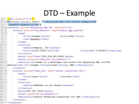 tutorial xml y dtd xml s validation dtd