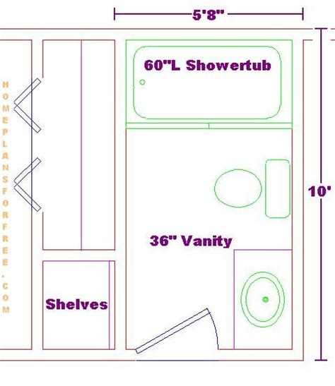 bathroom floor plans 5 x 10 5x10 bathroom floor plan addition pinterest bathroom