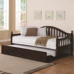 Wood Daybed With Trundle Traditionally Styled Wood Daybed With Trundle Daybeds Bedroom Other Furniture