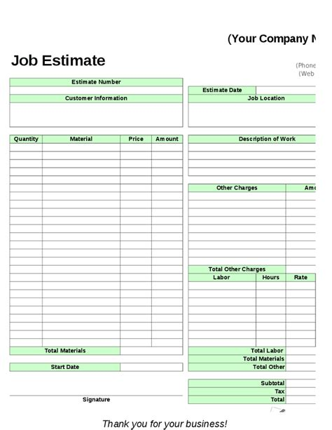 lawn care estimate template joy studio design gallery
