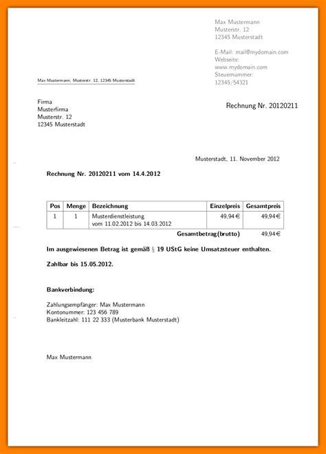 Rechnung Schreiben Privatperson Finanzamt 8 rechnung schreiben muster privatperson sponsorshipletterr