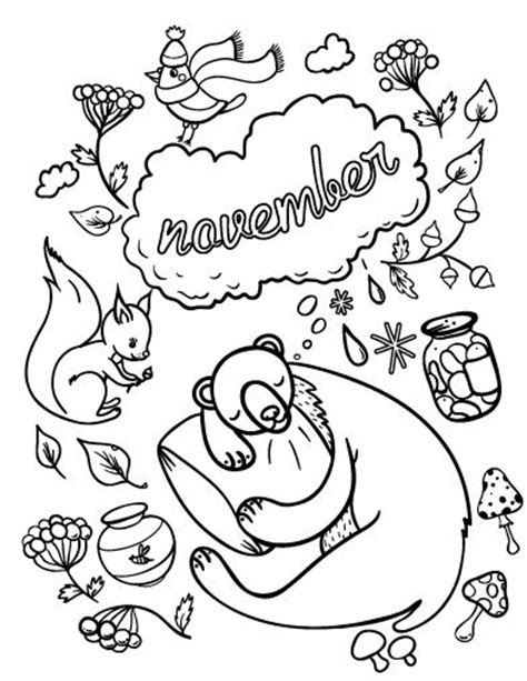 november coloring pages printable coloringstar