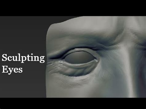 zbrush sculpting eyes part 2 youtube