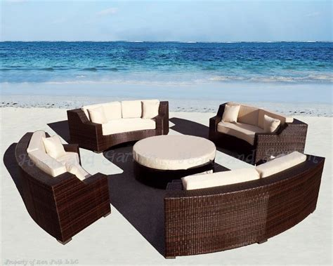 round outdoor sectional sofa modern savannah round wicker sectional sofa outdoor patio