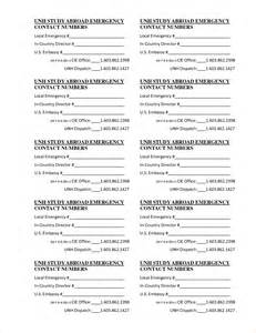 contact card template emergency contact list templates phone staff contact