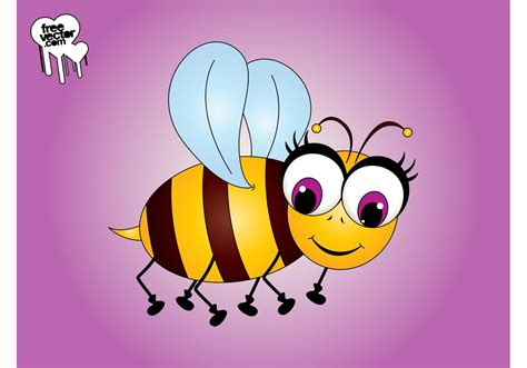 Original Reg A Free Used Bee bee character free vector stock graphics images