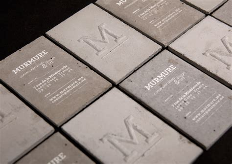 Concrete Business Cards | murmure concrete business card