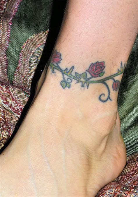 rose vine ankle tattoos designs ideas ankle designs