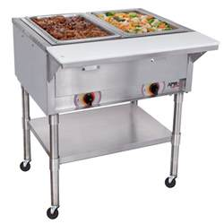 apw wyott psst2 portable steam table 2 well sealed well